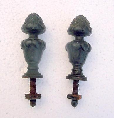 A Pair of Antique French Bronze Finials
