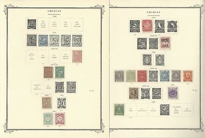 Uruguay Collection 1856 to 1975 on Scott Specialty Pages, Around 100 Pages