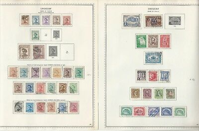 Uruguay Collection 1856 to 1972 on 87 One-Sided Minkus Specialty Pages