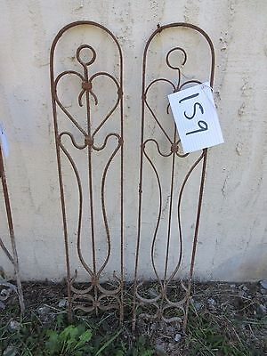 Antique Victorian Iron Gate Window Garden Fence Architectural Salvage Door #159