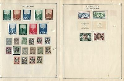 Vatican City Collection 1942-63 on 22 Scott International Pages, Complete Sets