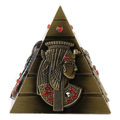 "4"" Egyptian Pyramid Statue Ornament Home Furnishing Bedroom Bookcase Decor"