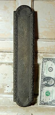 Antique vtg Victorian Art Deco c1920s-40s Brass DOOR PUSH Plate Hardware India