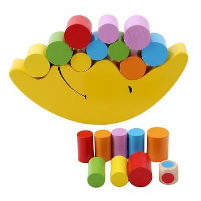 Wooden Moon Shape Balanc Table Game Toy for Montessori Educational Learn Z