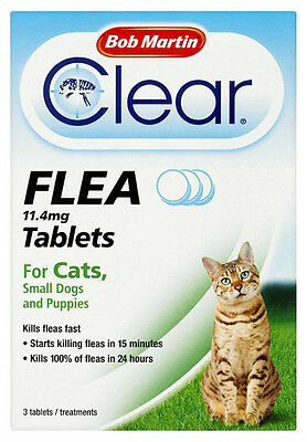 Bob Martin Clear Flea Tablets for Cats & Small Dogs & Puppies Under 11kg