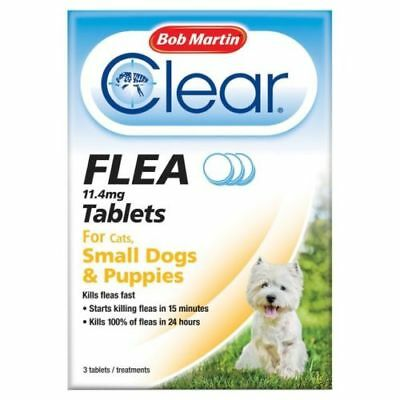 Bob Martin Clear Flea Tablets for Cats, Small Dogs & Puppies Under 11kg