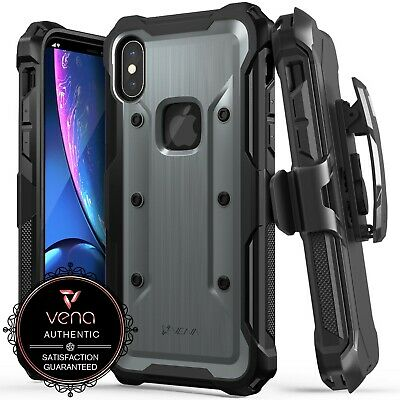 for Apple iPhone X XS Rugged Case [Shockproof] Belt Clip Holster Kickstand Cover