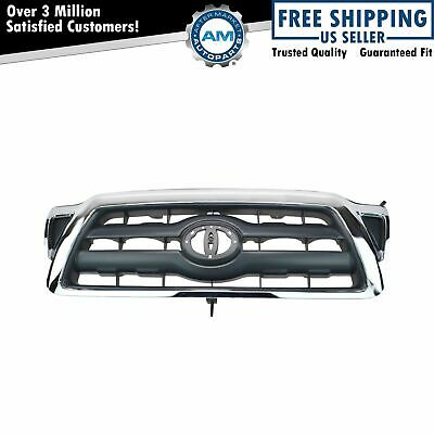 Grille Black with Chrome Surround for 05-10 Toyota Tacoma NEW