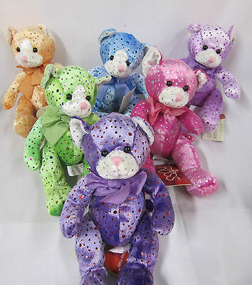 Russ Glitzy Gals Cats #24681 New With Tags Lot of 6 Different Colors Cats Cat
