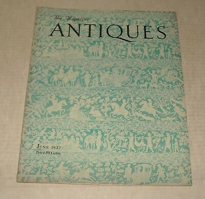 June 1937 ANTIQUES MAGAZINE EARLIEST AMERICAN PAINTED DOLL REMMY FAMILY POTTERS
