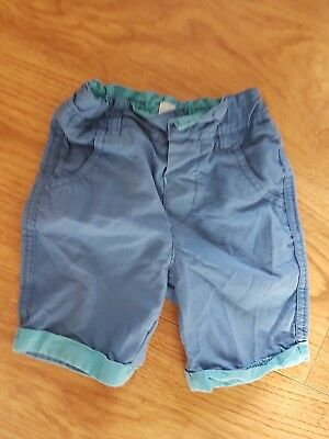 baby boys toddler TED BAKER blue shorts age 9 12 months