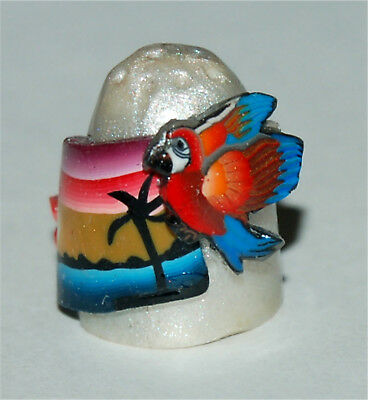 Boulder Bay Thimble - PEARL POSTCARD STYLE TROPICAL SUNSET - MACAW & LILY