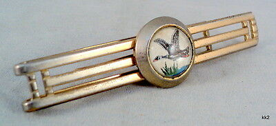 Vintage Anson Men's Money Clip / Tie Bar Flying Goose Button - Estate Find