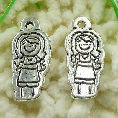 free ship 140 pieces tibetan silver needle charms 39x6mm #3559
