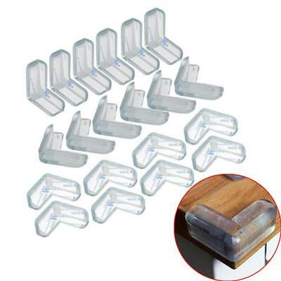 20Pcs Clear Table Corner Protectors Desk Edge Cushion Baby Child Safety Guard BS