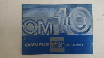 Olympus OM 10  SLR Camera Owners Instruction Manual