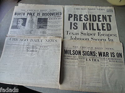Chicago Daily News Historic Reprints 8 pages Issue #1 JFK WWI RFK Moon Titanic +