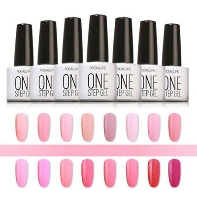 ONE STEP GEL 3 in 1 UNGHIE UV ART SMALTO A LUNGA DURATA SOLIDO SOAK OFF FASCINO
