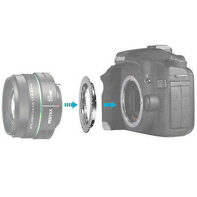 Neewer Lens Adapter for Pentax K Lens to Canon EOS EF EF-S Mount 20D 30D 40D 50D