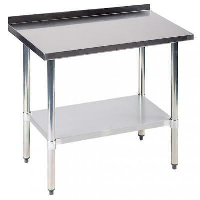 "24""x36"" Stainless Steel Work table w/ Backsplash Kitchen Restaurant table EB"