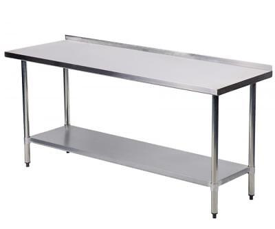"24""x60"" Stainless Steel Work table with Backsplash Kitchen Restaurant table EB"