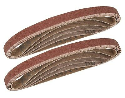 BANDES ABRASIVES (10) POUR LIMES 10x330 GRAINS ASSORTIS