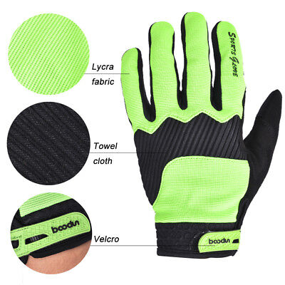 Sport Winter Windproof Riding Gloves TouchScreen Keep Warm Bicycle Glove Green M