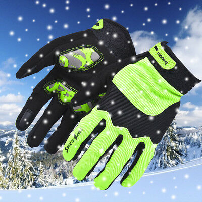 Sport Winter Windproof Riding Gloves PU TouchScreen Keep Warm Bicycle Glove XL