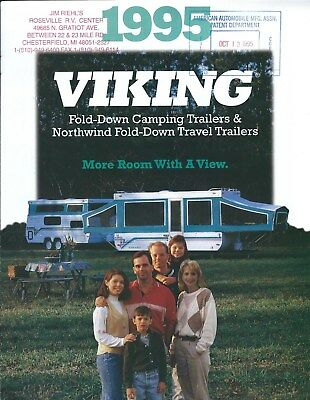 Travel Trailer Brochure - Viking - Fold-Down Camping - Northwind - 1995 (MH65)