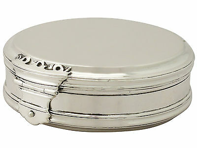 Sterling Silver Box - Queen Anne Style - Antique George V