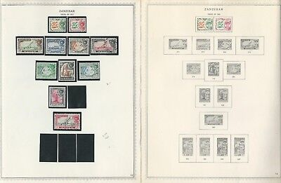 Zanzibar Collection 1895 to 1967 on 19 One-Sided Minkus Specialty Pages (B)
