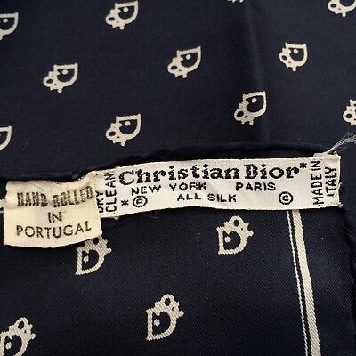 Christian Dior Gents Silk Pocket Size Logo Handkercheif