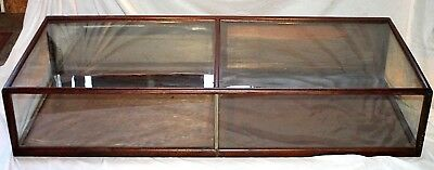 ANTIQUE 1800's HUGE 6' GENERAL STORE COUNTERTOP DISPLAY /SHOWCASE W/ WAVY GLASS