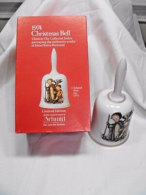 1974 Christmas Bell   3rd in Collector Series  Works of Sister Berta Hummel