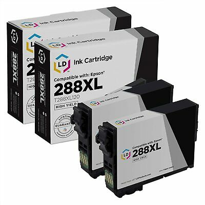 LD 2PK Black Printer Ink Cartridge for Epson T288XL120 288XL 288 XP-340 XP-434