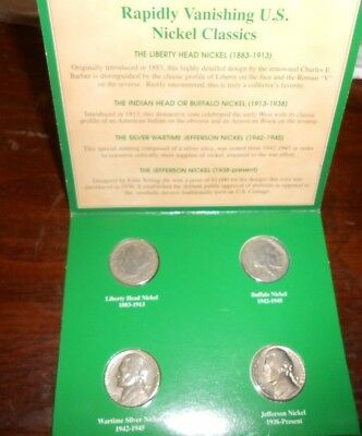 American Nickels of the 20th Century Coin Set in a Sealed Case Wartime Silver