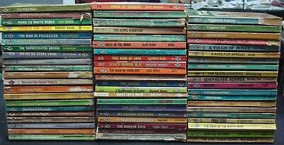 Vintage Lot 63 Harlequin Romance Books Red Edge Pages 70's 80'sused Paperback