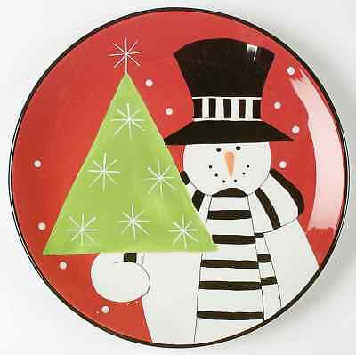 Certified International HOLIDAY SNOWMAN Service Plate (Charger) 6316140