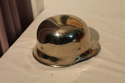 Old Vintage German Fire Dept Chrome Helmet Germany Fire Helmit