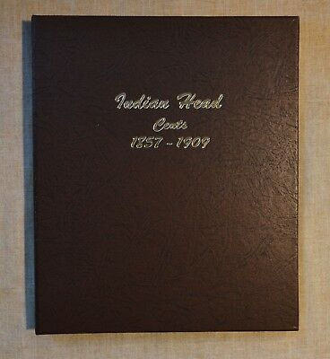 NEW INDIAN HEAD CENT DANSCO ALBUM #7101 - 1857 to 1909 - NO COINS - ALL SLEEVES
