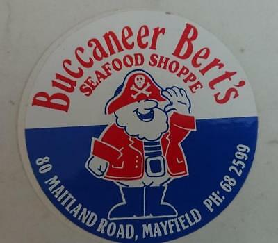 Retro Sticker - Buccaneers Bert's Seafood Shoppe  Mayfield Newcastle NSW