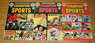 Champion Sports #1-3 FN complete series JOE SIMON dc comics set lot baseball 2