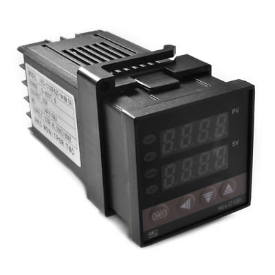REX-C100 Digital PID Temperature Controller Regulator K Thermocouple SSR Relay