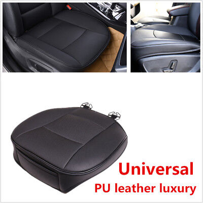 Comfortable 1x PU Leather Car Front Seat Cover Protector Cushion Black Universal