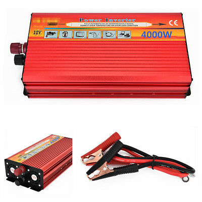 Portable 4000W 8000W Max Power Inverter Car Converter Charger Modified Sine Wave