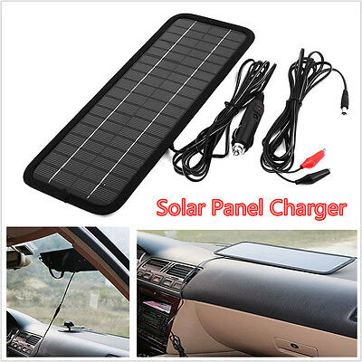 New 4.5W 12V Solar Panels Battery Maintainer Charger for Car RV SUV Truck Boat