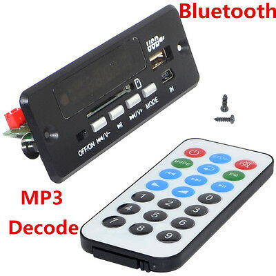 12V Car Handsfree Bluetooth MP3 Decode Board with Bluetooth Module FM Amplifier