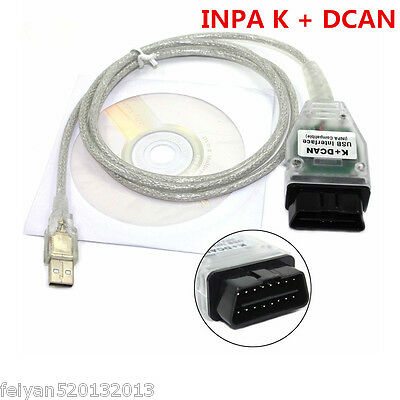 Autos INPA K+ DCAN USB Interface OBD2 OBDII Car Diagnostic Tool Cable For BMW