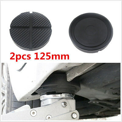 Universal 2 Pcs Cross Slotted Frame Rail Rubber Pad For Pinch Weld Side JACKPAD