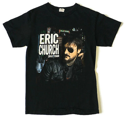 ERIC CHURCH 2012 Tour Blood Sweat and Beers Mens T-Shirt Tee size S